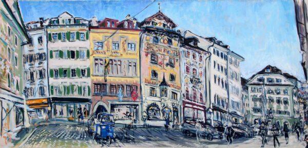 Ölbild Altstadt Weinmarkt