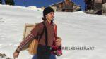Gabriel Kessler Malen im Schnee