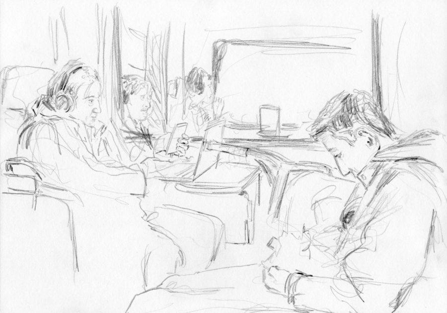 Menschen im Zug 2