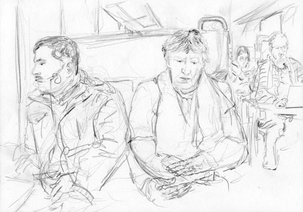 Menschen im Zug