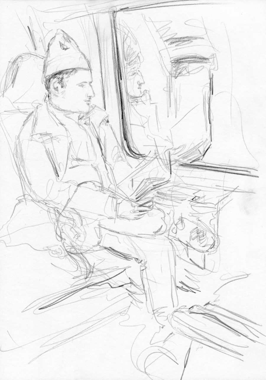 Herr im Zug