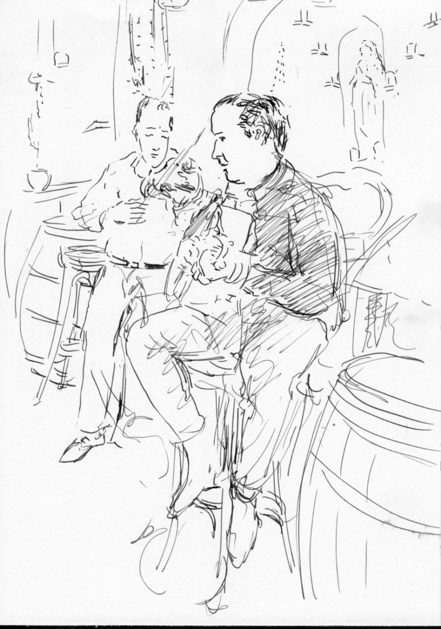 café_paris_musik_Zeichnung