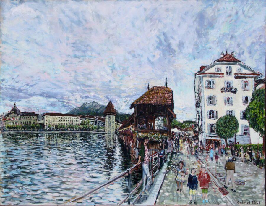 Kappelbrücke Gabriel Kessler Malerei