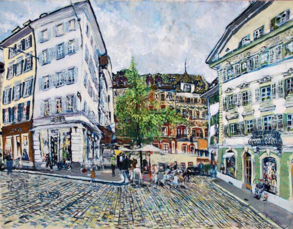 Weinmarkt Malerei